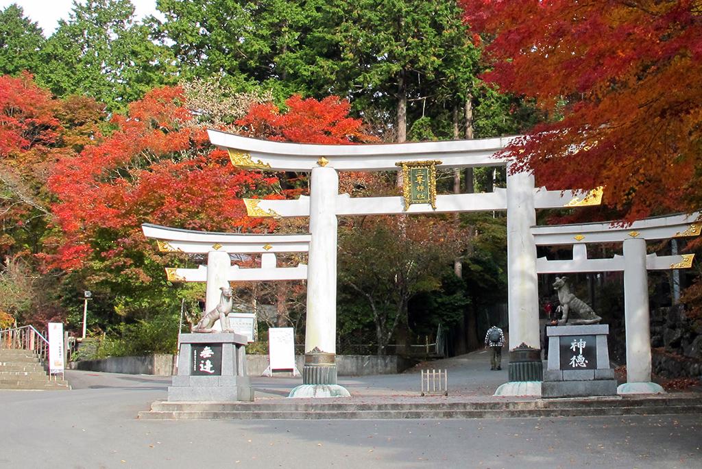 日本に7つしかない珍しい「三ツ鳥居」