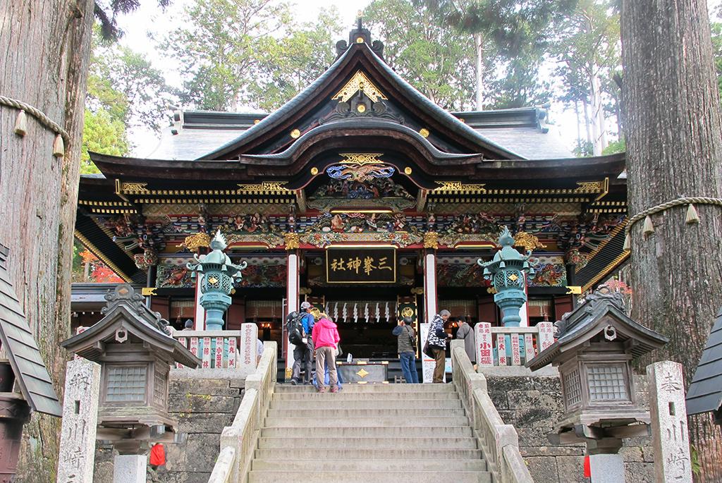 光・氣・ご神木などが相まって神々しい雰囲気の拝殿