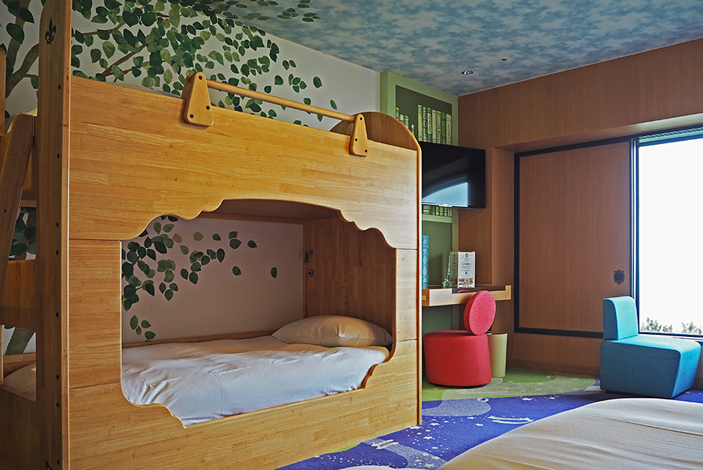 2段ベッドまで設置されているファミリーハッピーマジックルーム